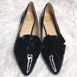 🎀 NWOB Vince Camilo Paten Leather Bow Loafers 🎀